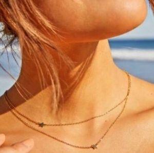 NWT! Jennifer Zeuner Double Star Necklace